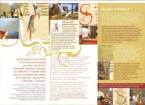 Brochure du Scriptorial d'Avranches